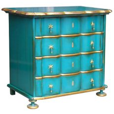 534 DUTCH COMMODE Turquoise H78cm L88cm D54cm