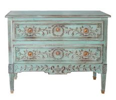 535B COMMODE FRAGONARD bleu
