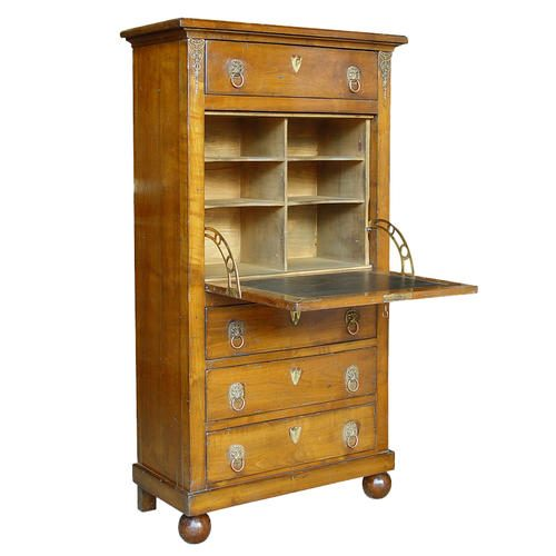 561A-SECRETAIRE-EMPIRE-MERISIER-Wooden