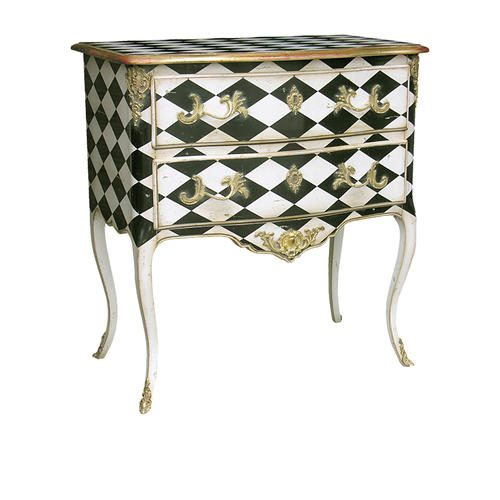 570FD COMMODE LXV DECOR LOSANGES Checkerboard