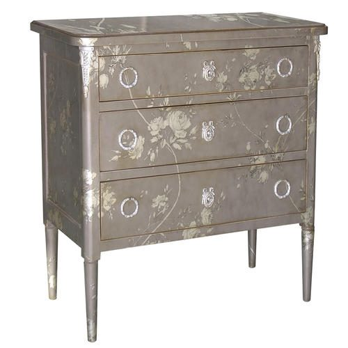 580B COMMODE Grey Flowe