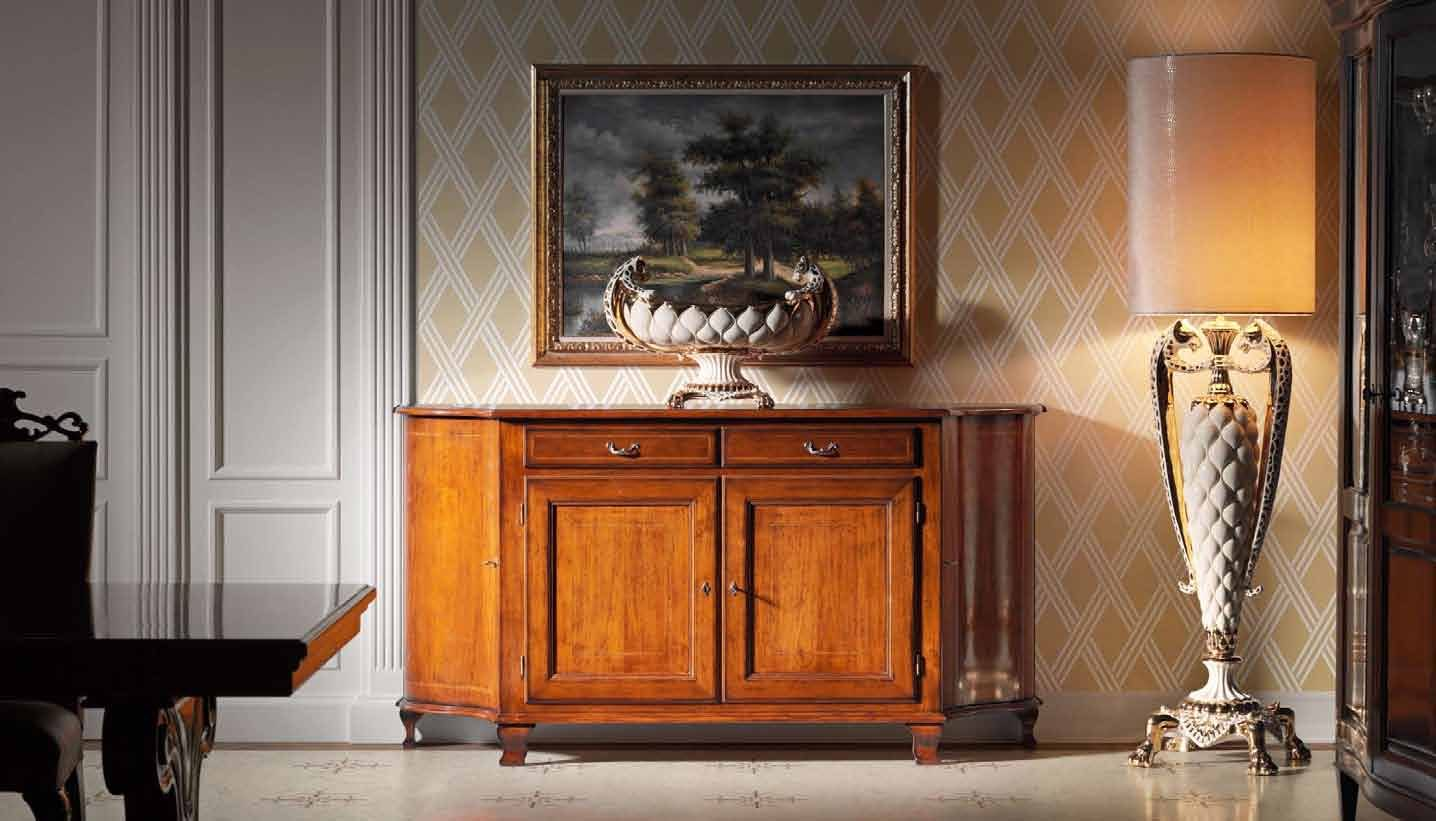 739 Shaped sideboard with two doors and two drawer