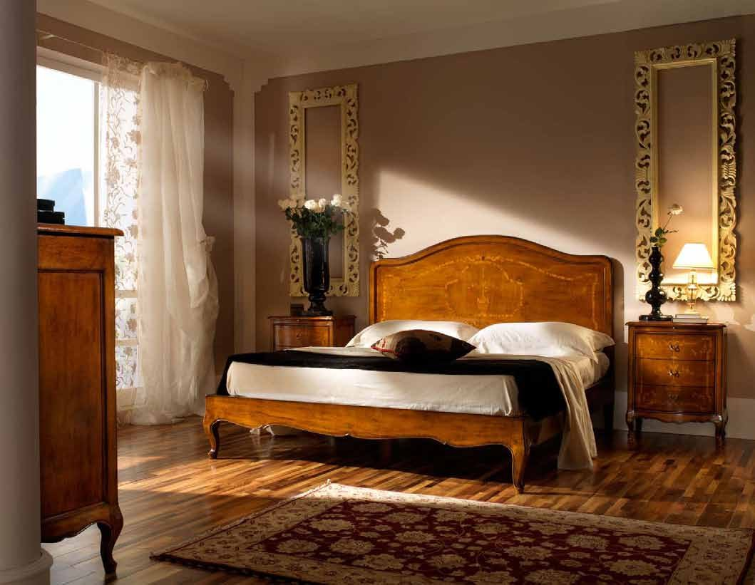794 Double bed with inlaid headboard and bed frame