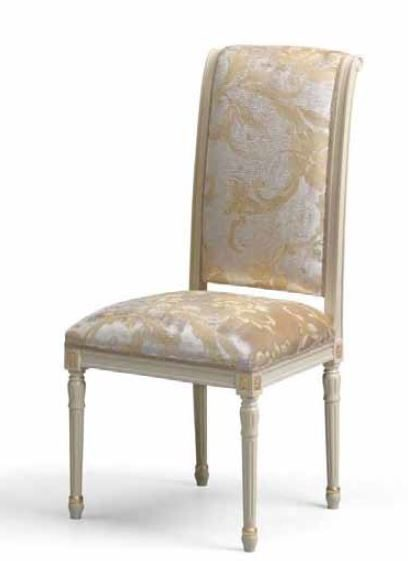 853 Carver chair with upholstered seat and back carved feet 1