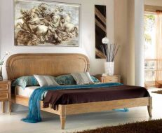 855 Bed with shaped headboard and bed end frame