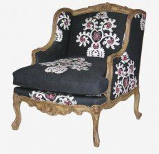 BERGERE A OREILLES armchair Black