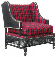 BERGERE L.XIV armchair black red