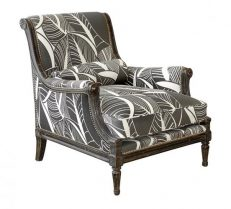 BERGERE RESTAURATION armchair leaves