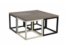 Coffee Table Industrial Metro Square Big set 4 TA IC 1 80 x 80 x 40