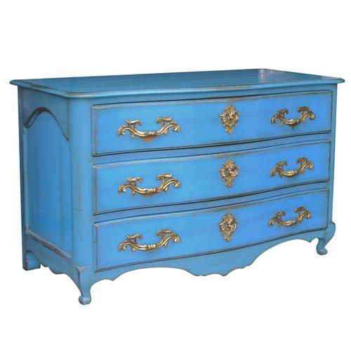 L.XIV GRENOBLOISE CHEST OF DRAWERS Blau