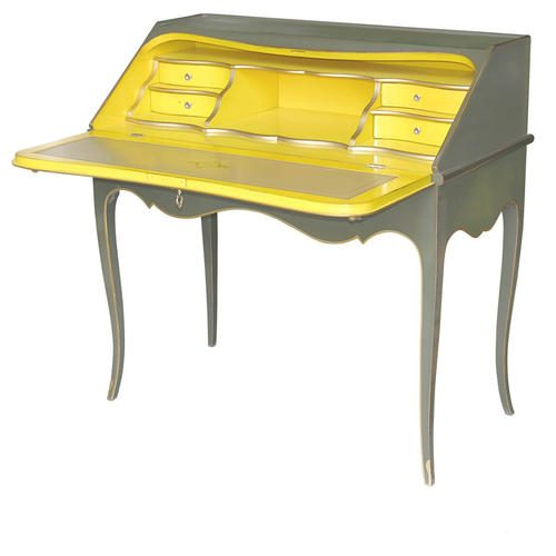 L.XV-SECRETARY-DESK-Green-Yellow
