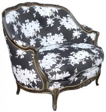 MARQUISE GONDOLE armchair Flower black