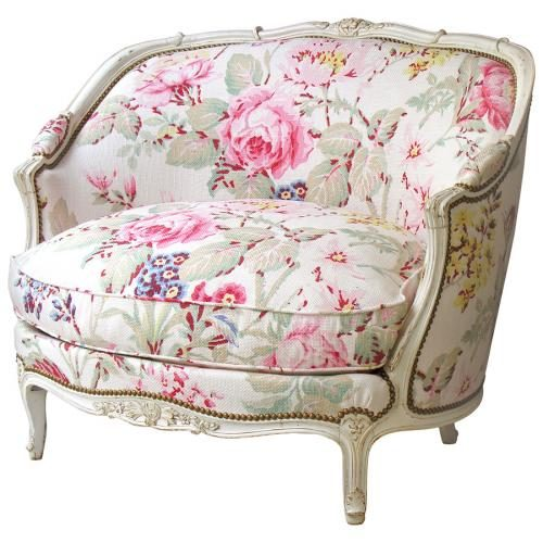MARQUISE GONDOLE armchair Flower light pink