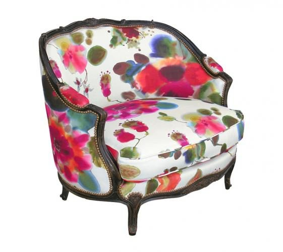 MARQUISE GONDOLE armchair Flower pink