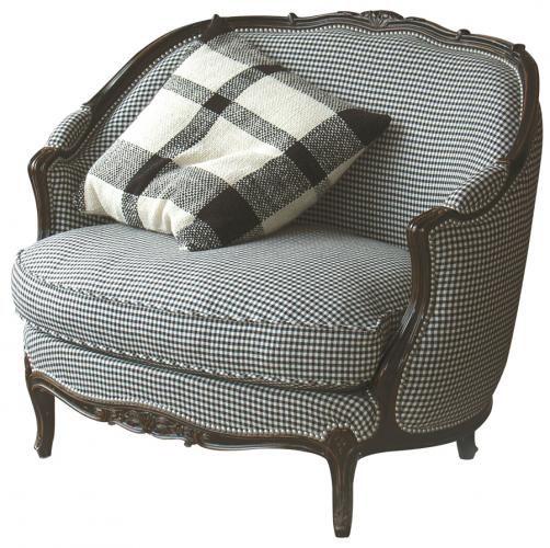 MARQUISE GONDOLE armchair checkerboard