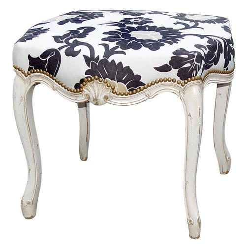 REGENCY-TABLE-HEIGHT-POUFFE-flower-pattern