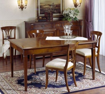 Rectangular dining table CF010 Directoire Noyer