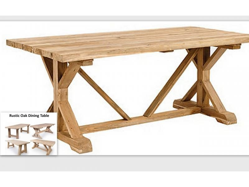 Rustic Oak Dining Table Jasper TA2824 200