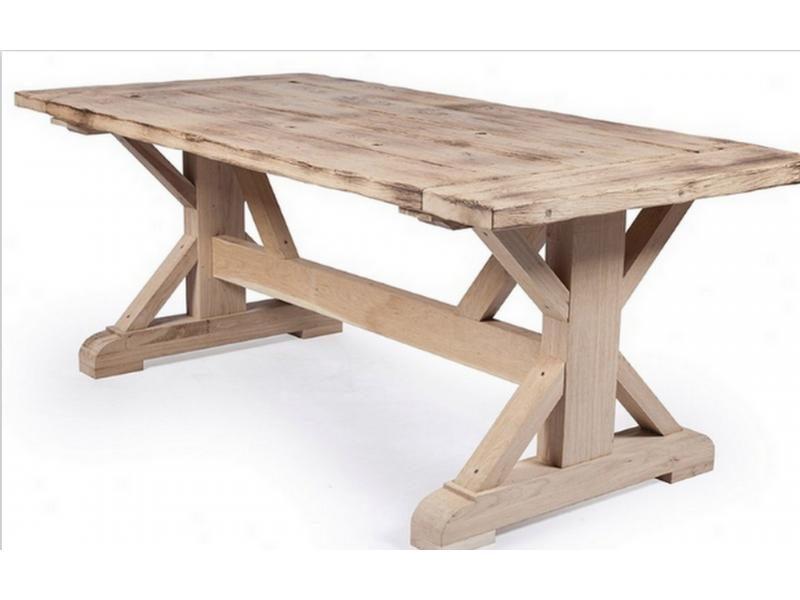 Rustic Oak Dining Table Maxwell TA2804 200