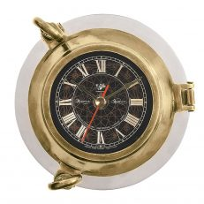SC043 Porthole Clock Aluminum 1