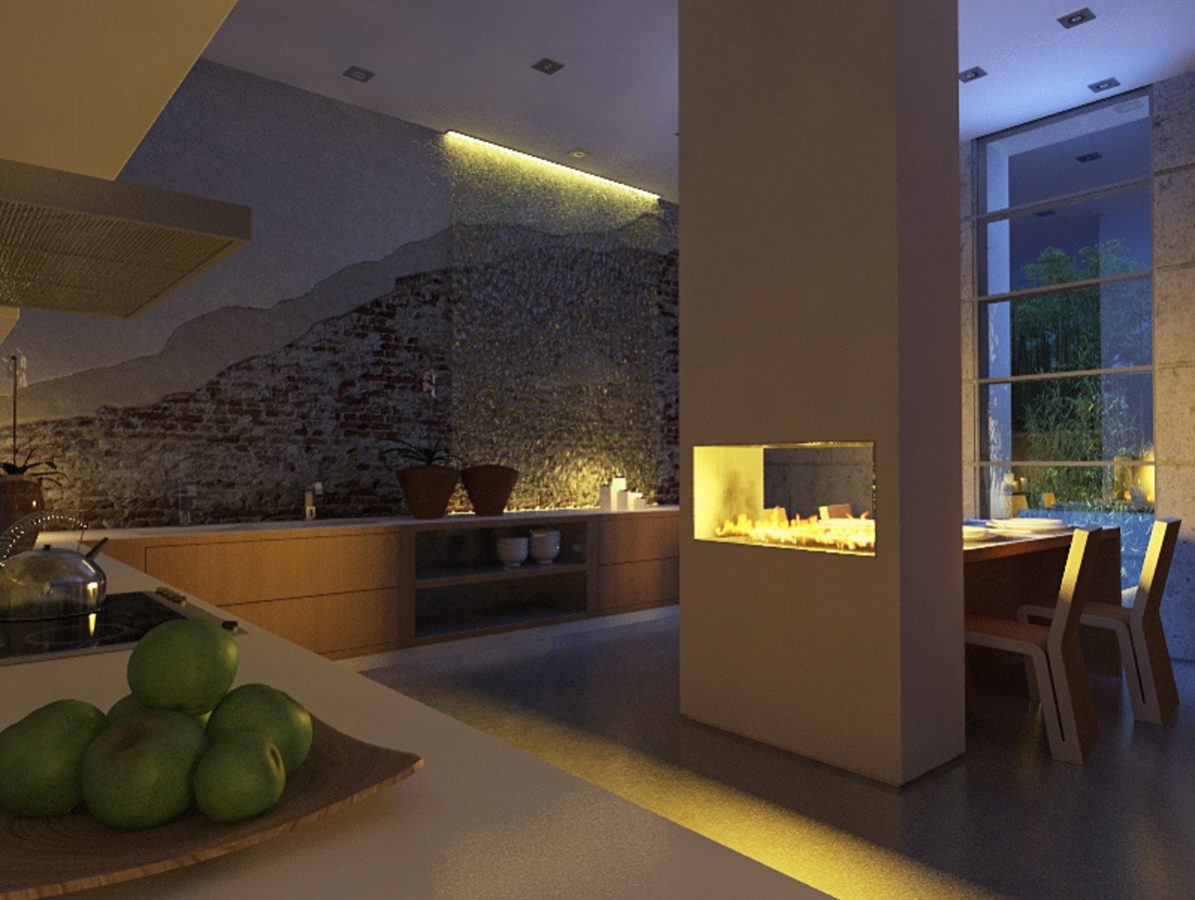 See-Through-Fireplace