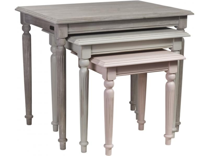 Side Table Bow set 3 TA9012 74