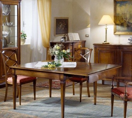 Square dining table 7510 Louis XVI
