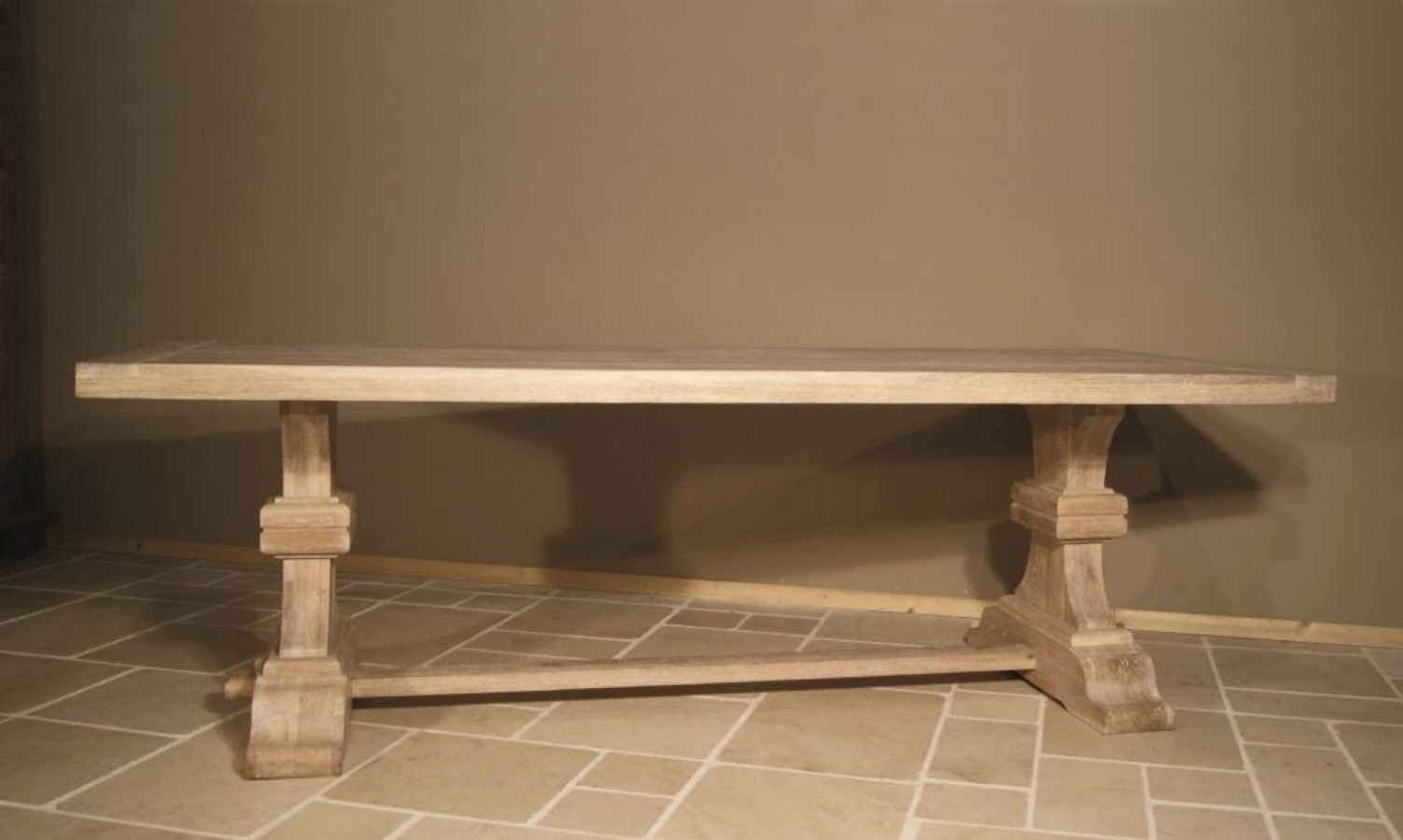 Table Manchester Oak White Wash 1