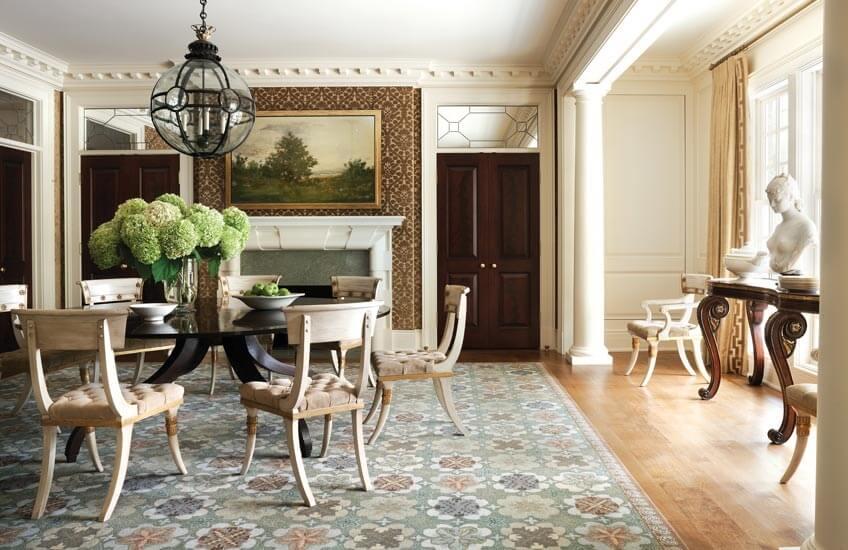 1552323415 Interior Design Styles 101 Classical Interiors Classical Dining Room Thomas Pheasant Interior Design Read more in the