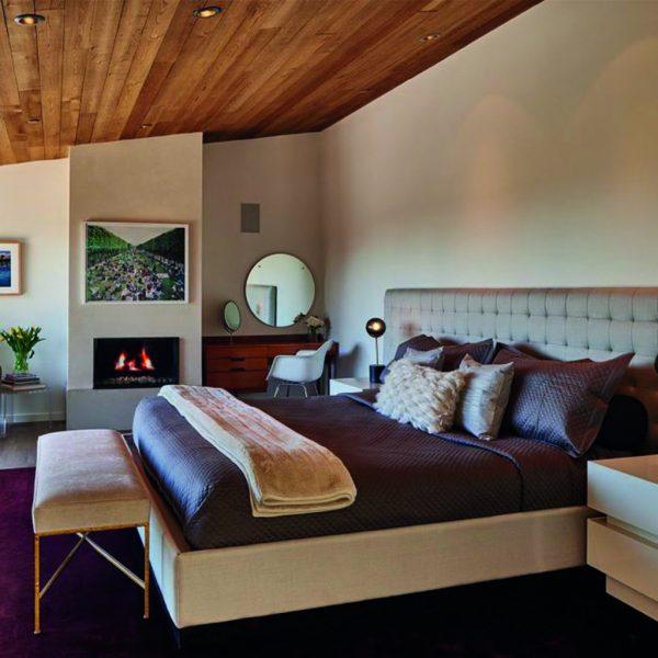 Mid century master bedroom interior design