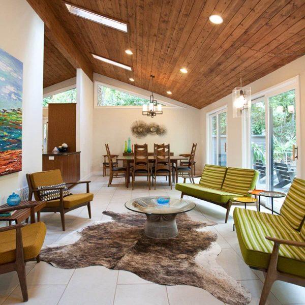 mid century wood ceiling 1